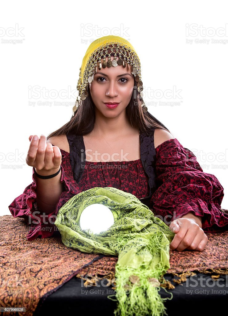 Psychic with Money Gesture stock photo