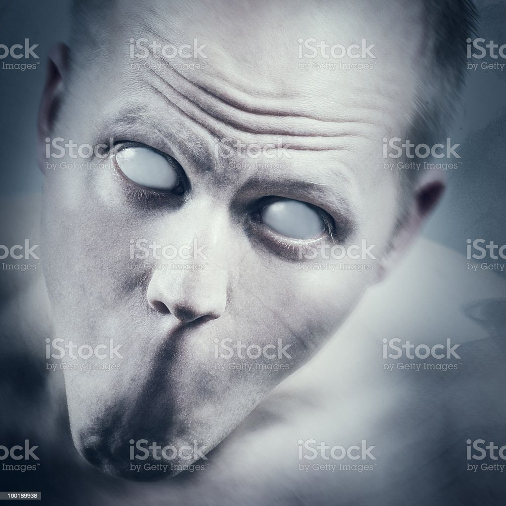Psycho and Scary Face royalty-free stock photo