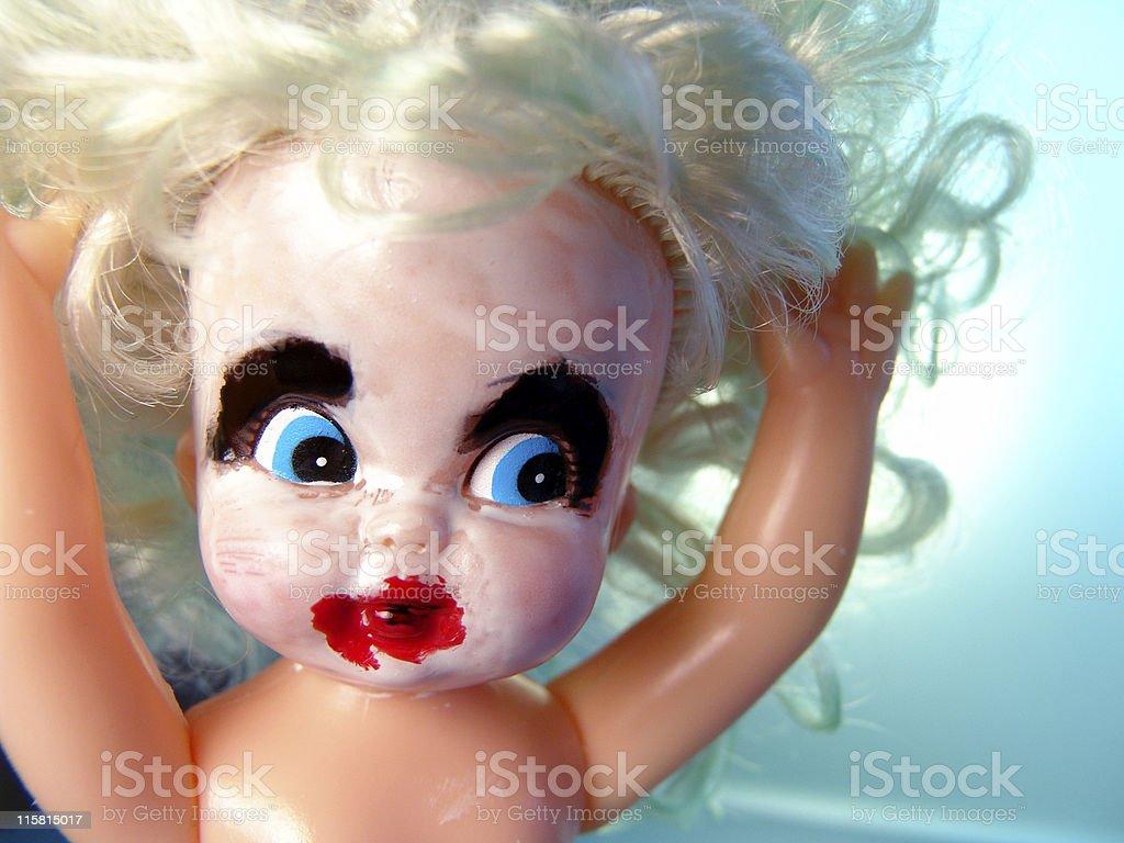 Psycho Doll stock photo