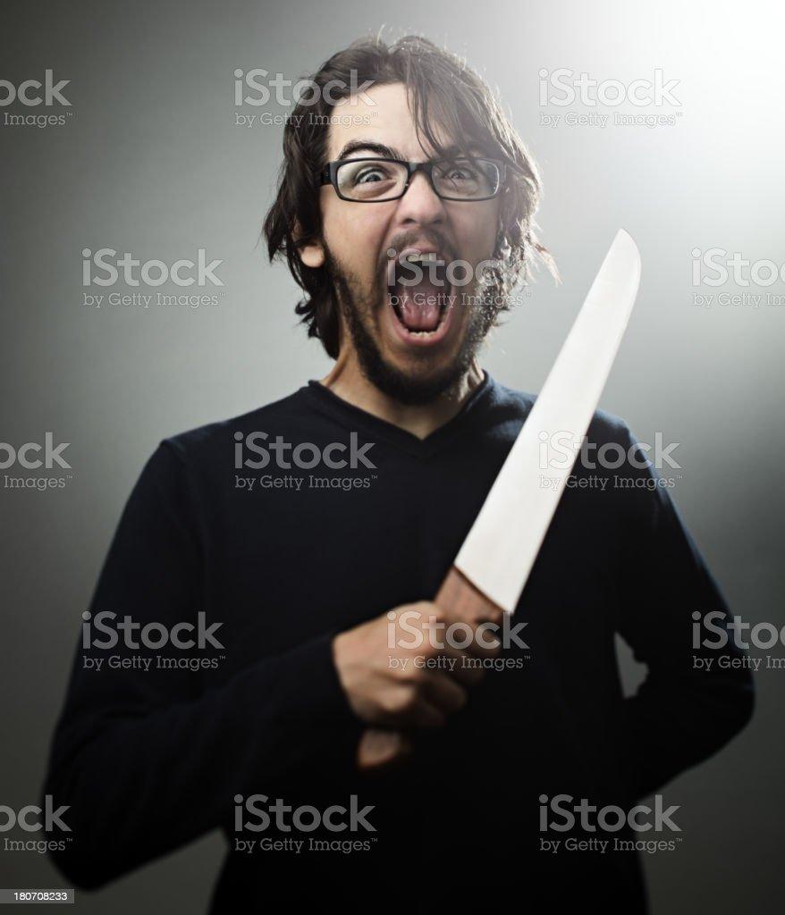 Psycho man stock photo