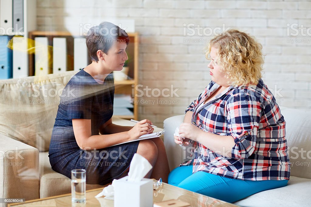 Psychological assistance stock photo