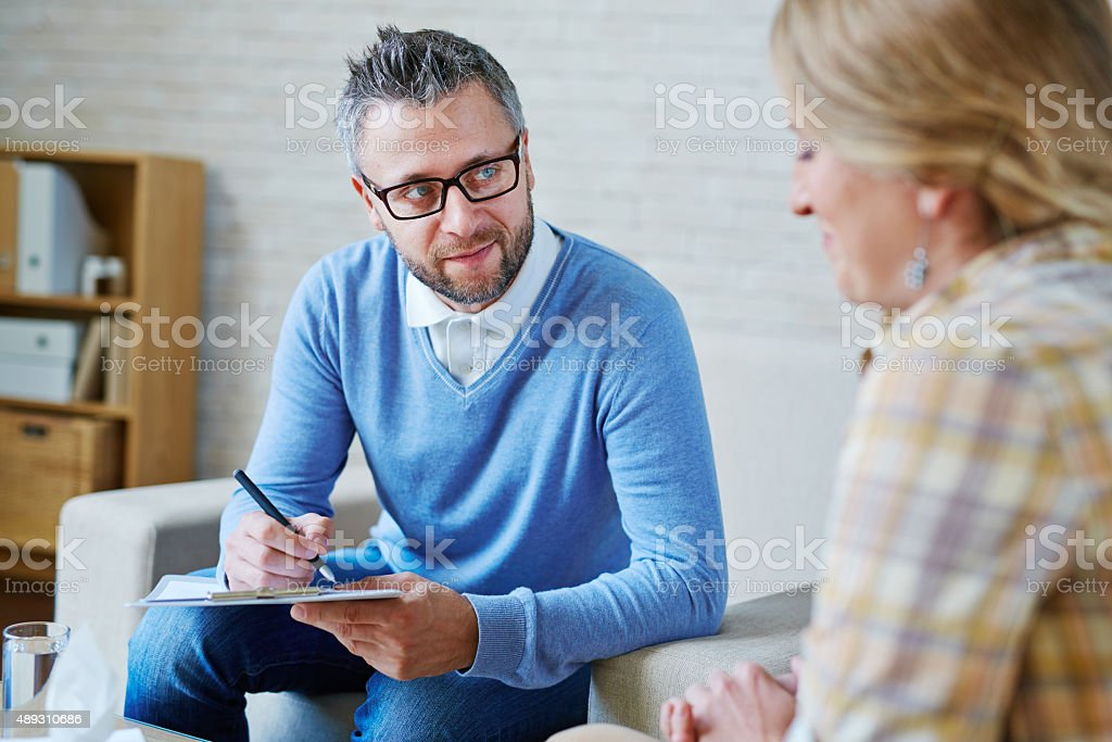 Psychological consultant stock photo