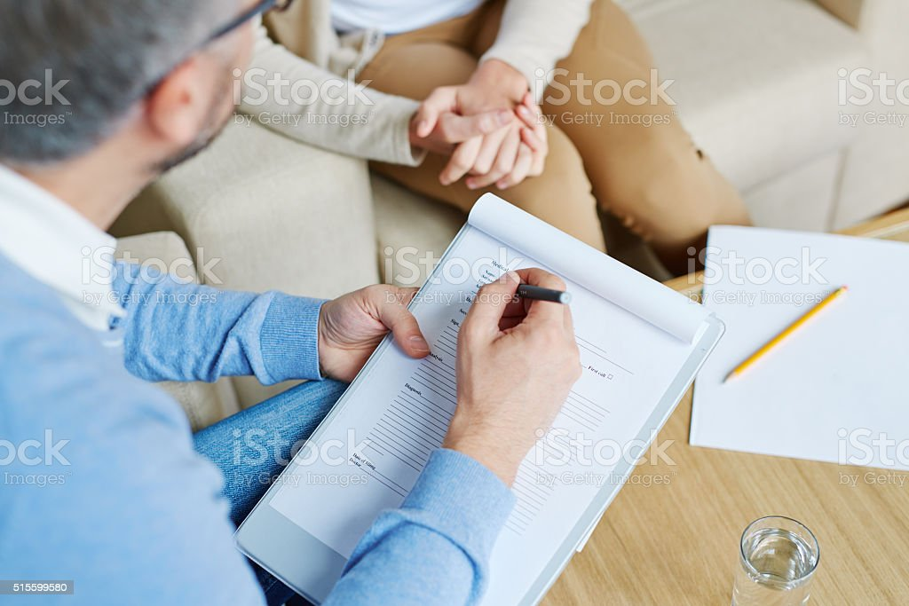 Psychologist with patient stock photo