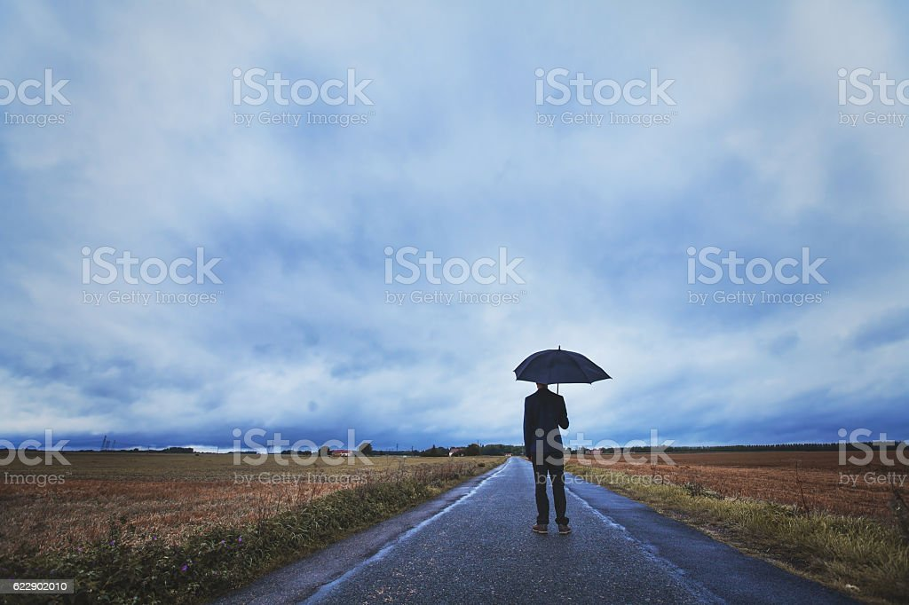 psychology concept, fears and negative emotions stock photo