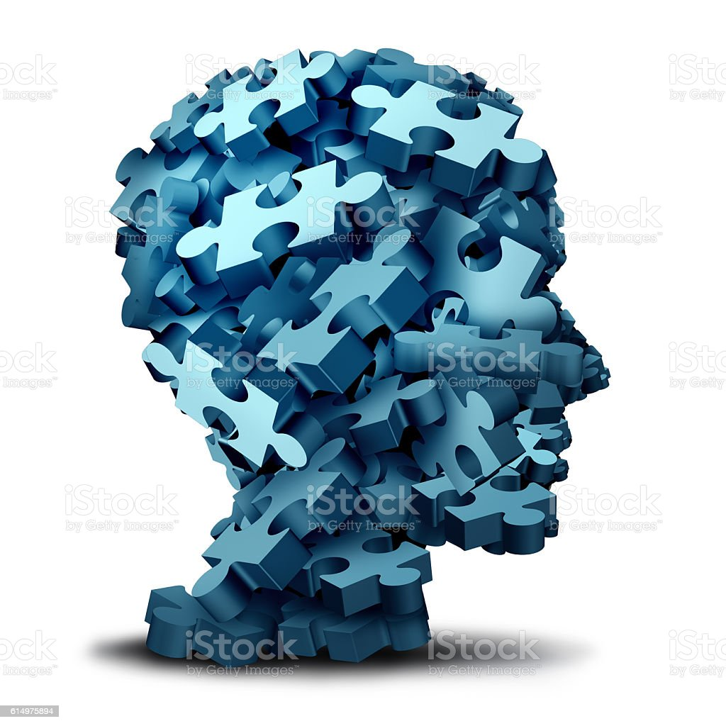 Psychology Puzzle stock photo