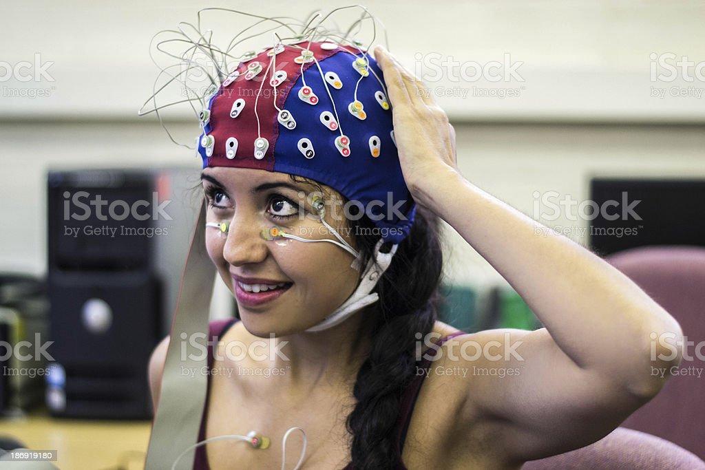 Psychophysiological measurements stock photo
