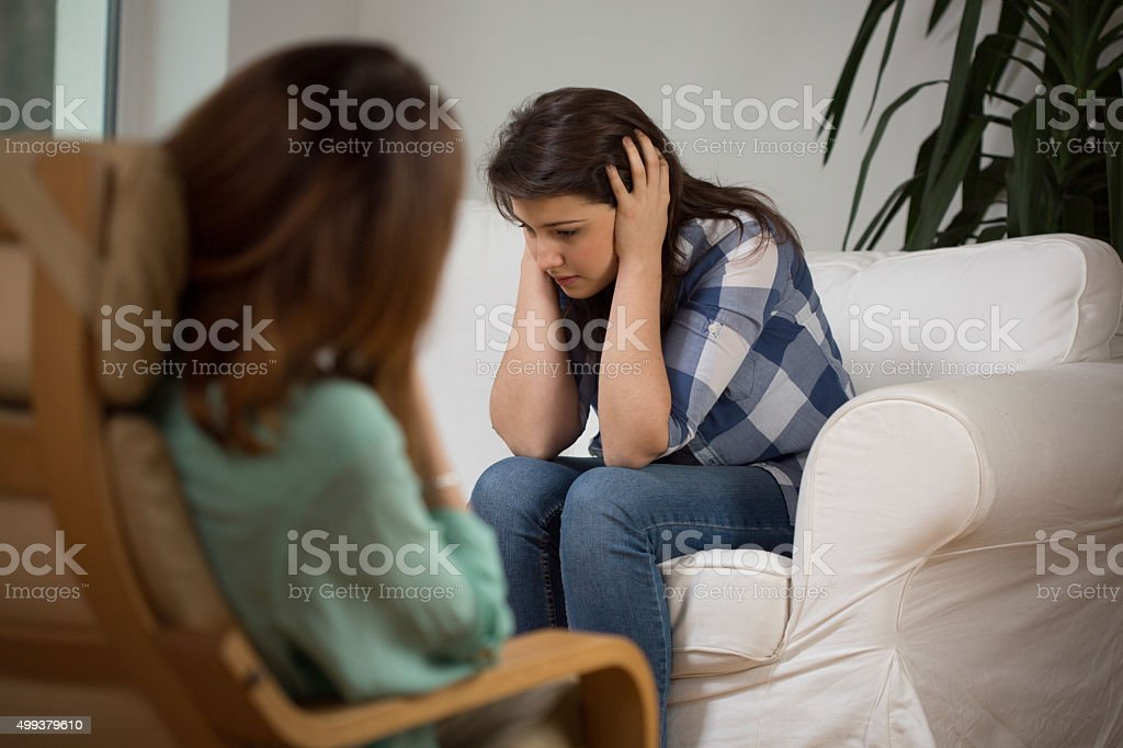 Psychotherapeutic session stock photo