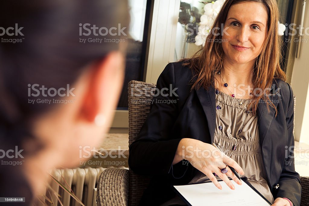 psychotherapy session stock photo