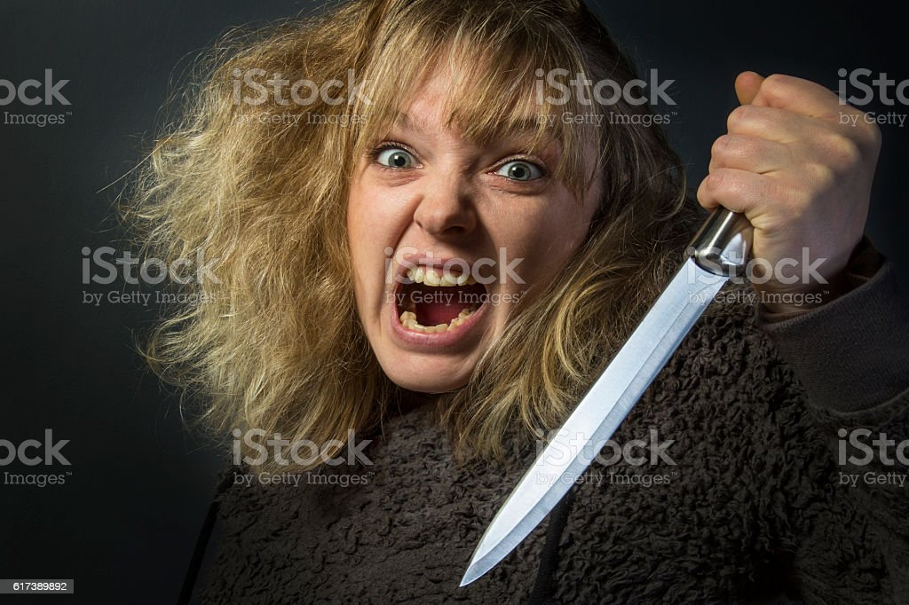 Psychotic Woman stock photo
