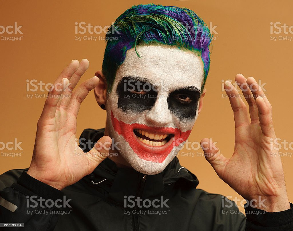 Psychotic Young Man stock photo