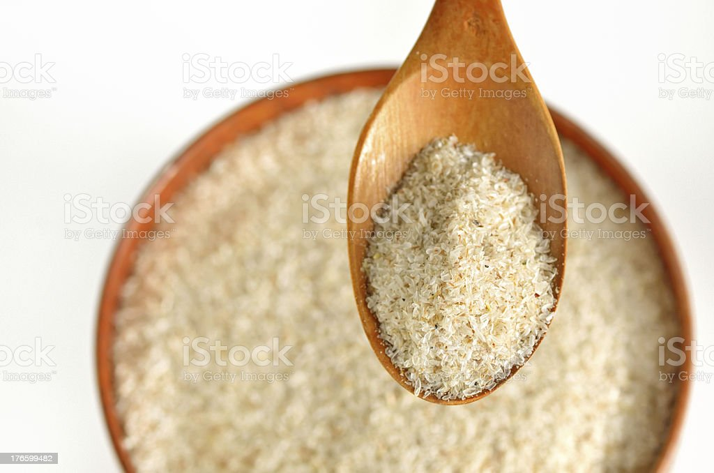 psyllium seed husks stock photo