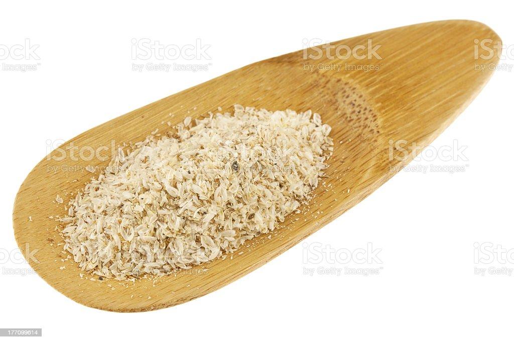 psyllium seed husks stock photo