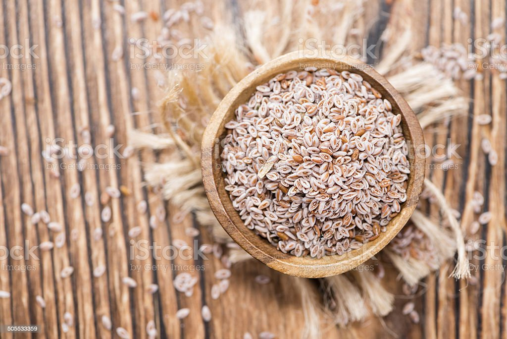 Psyllium Seeds stock photo