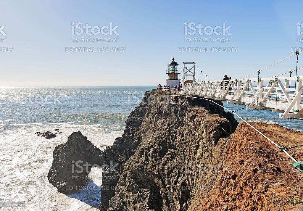 Pt Bonita Lighthouse stock photo