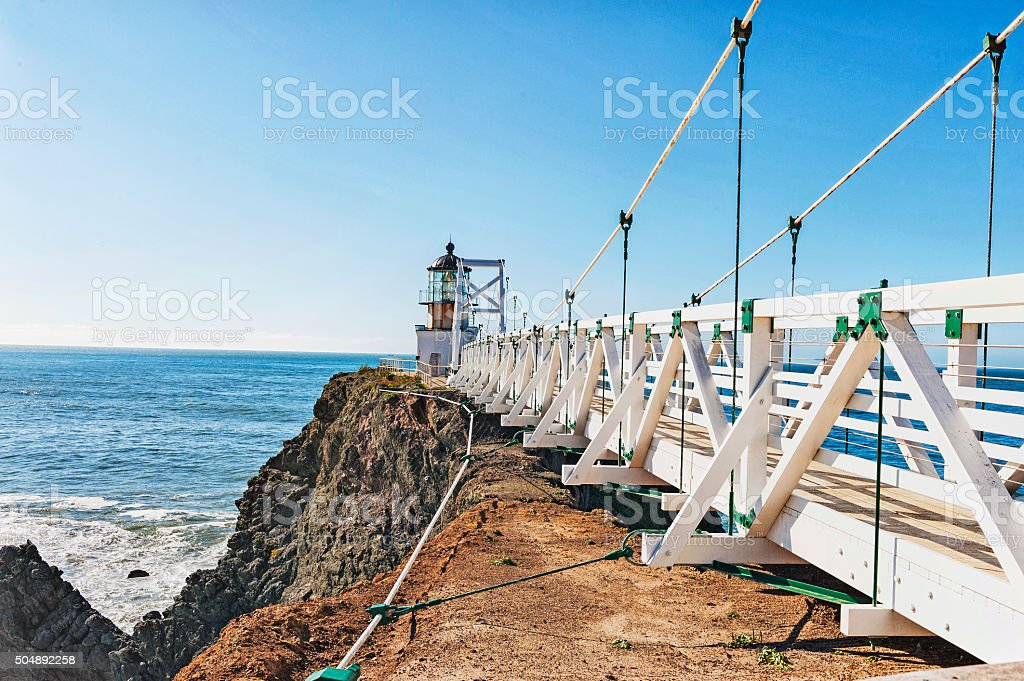 Pt Bonitas Lighthouse Sausalito California Marin Headlands stock photo