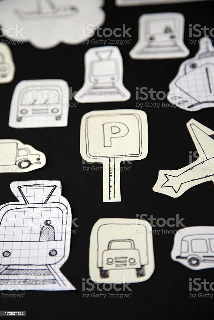 Ptaper transport royalty-free stock photo