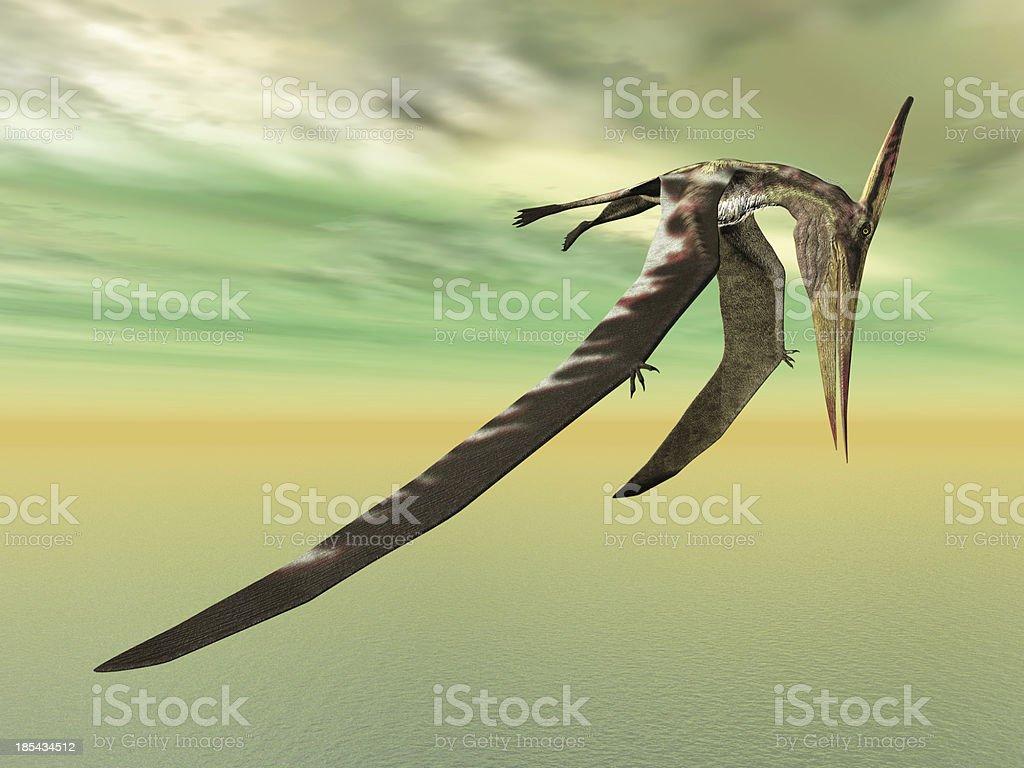 Pterosaur Pteranodon stock photo