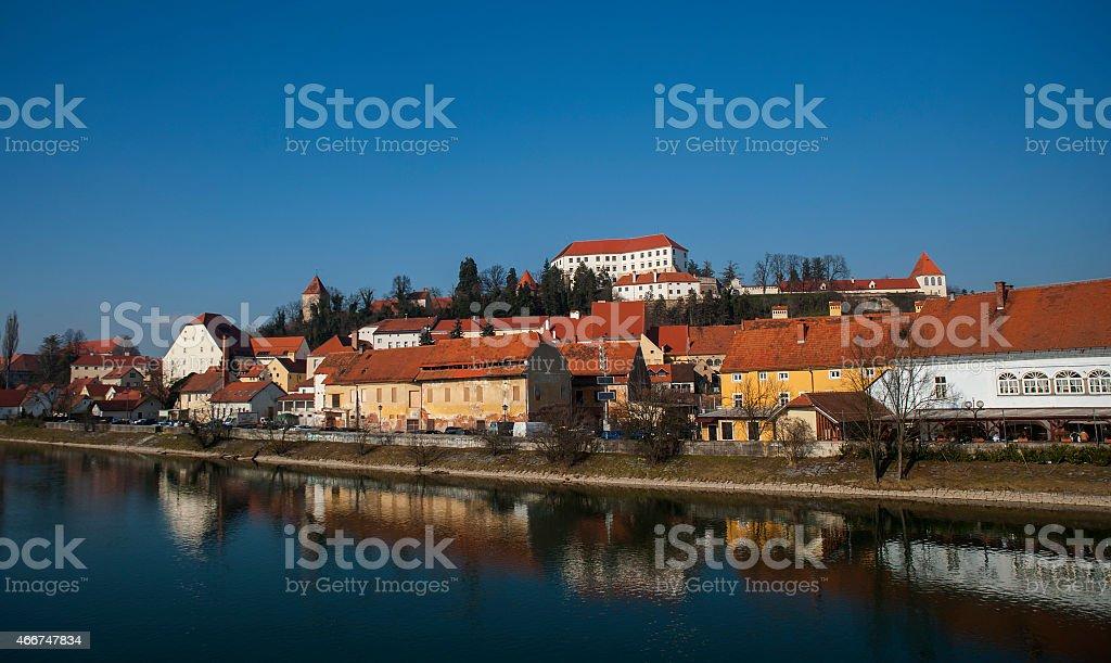 Ptuj town, Slovenia, central Europe stock photo