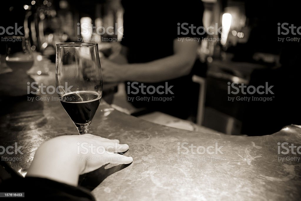 Pub and beer royalty-free stock photo