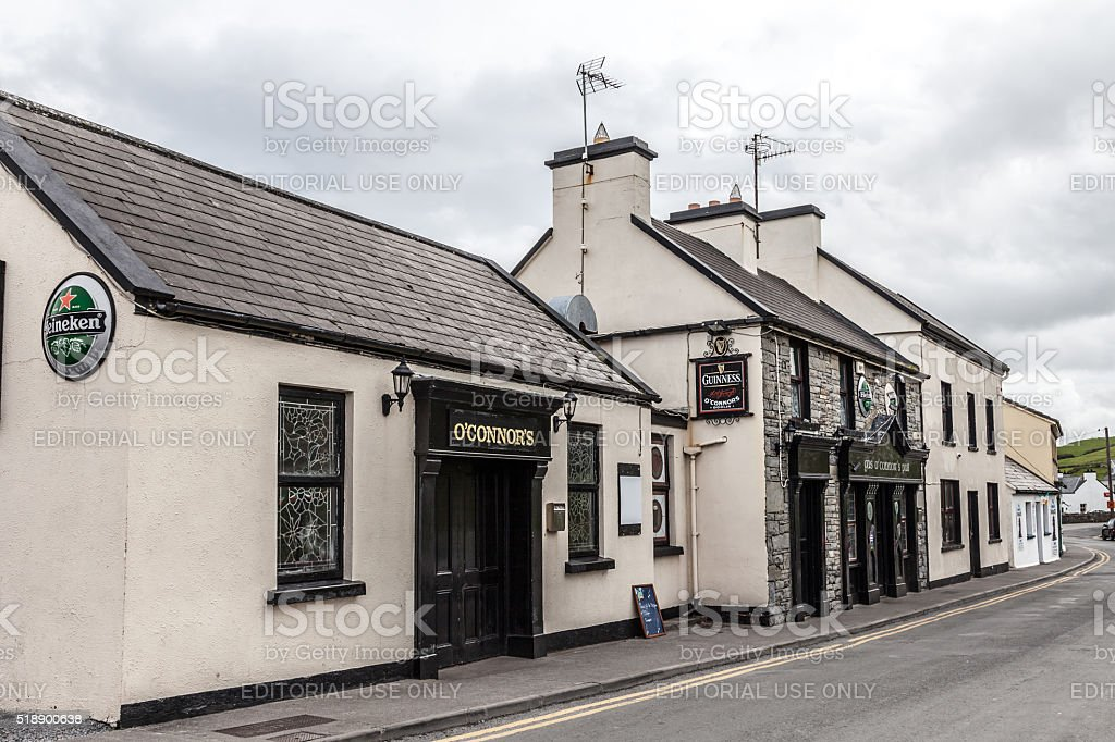 Pub, Doolin village, County Clare, Ireland stock photo