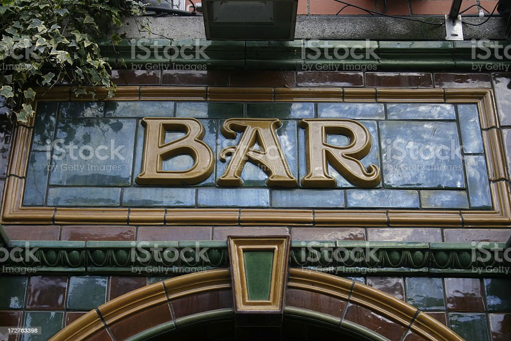 Pub Fascia Lettering stock photo