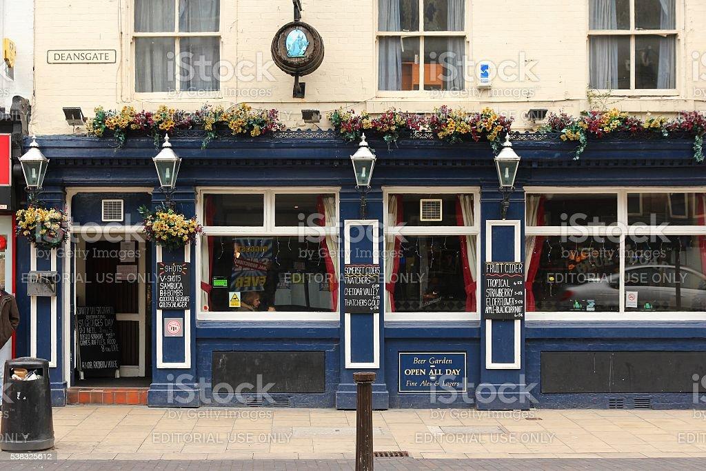 Pub in England stock photo