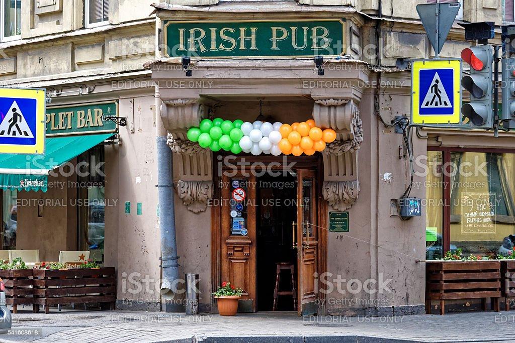 Pub in St.Petersburg stock photo