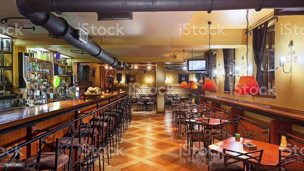 Pub interior stock photo