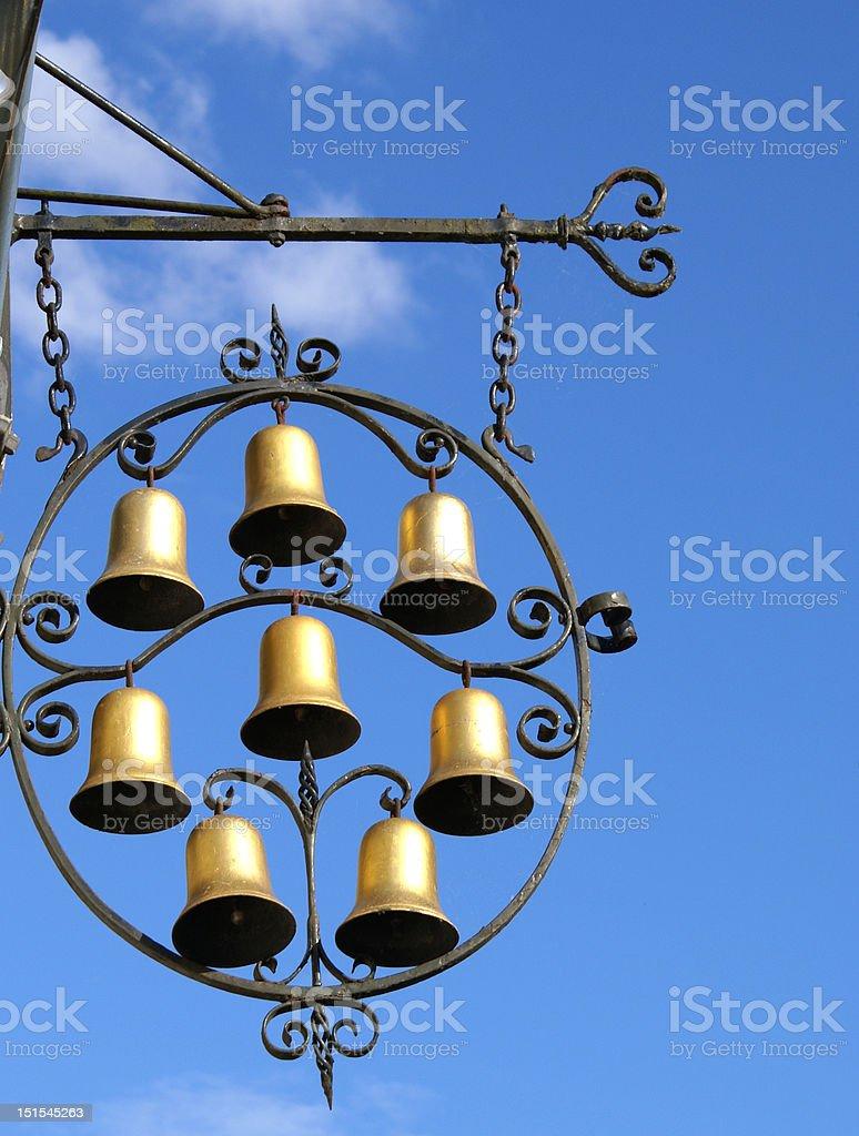 Pub sign illuminated with sun royalty-free stock photo