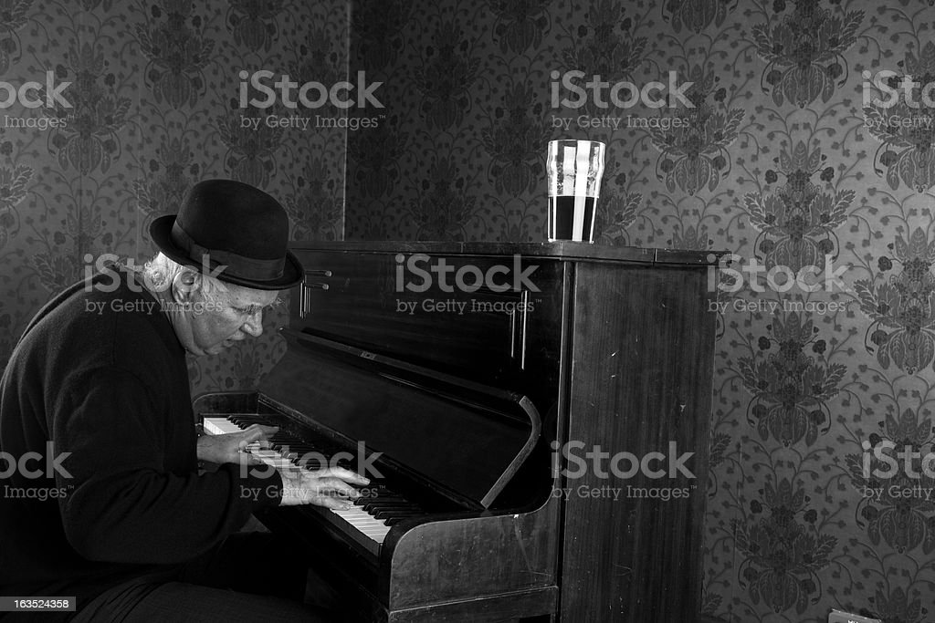 Pub Singer Playing The Piano royalty-free stock photo