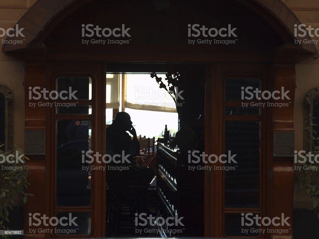 Pub Smoking stock photo