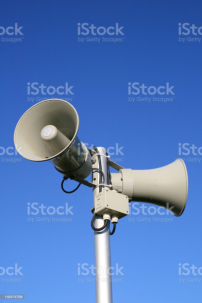 Public Address stock photo