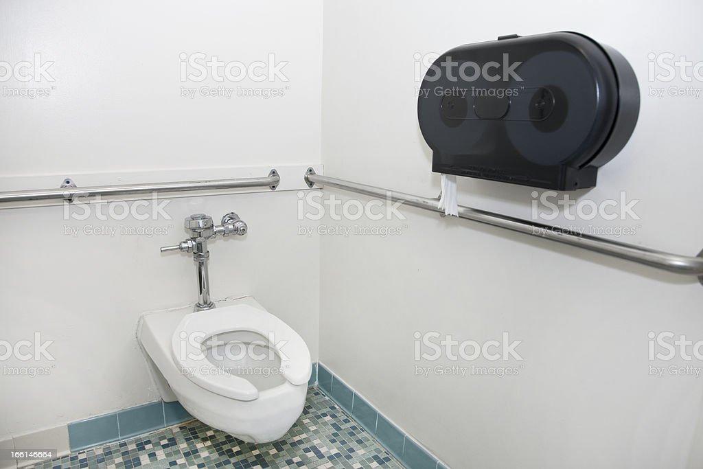 Public Bathroom Stall royalty-free stock photo