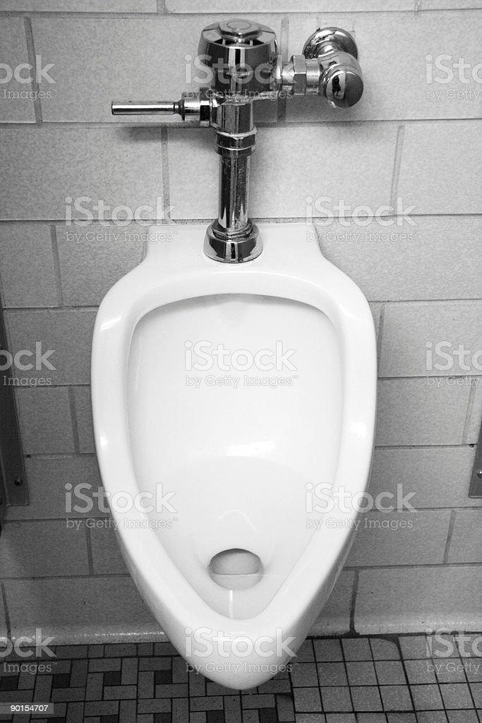 Public Bathroom Urinal royalty-free stock photo