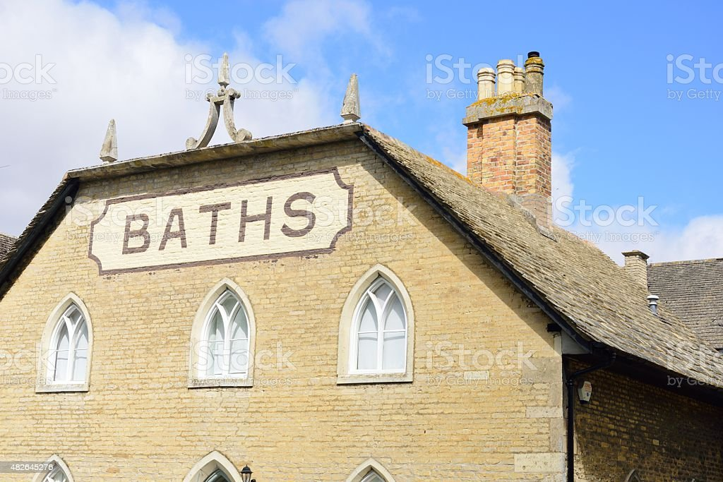 Public baths stock photo