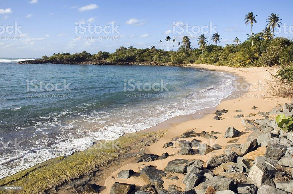 Public Beach in San Juan, Puerto Rico royalty-free stock photo