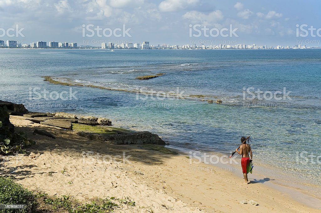 Public Beach in San Juan, Puerto Rico stock photo