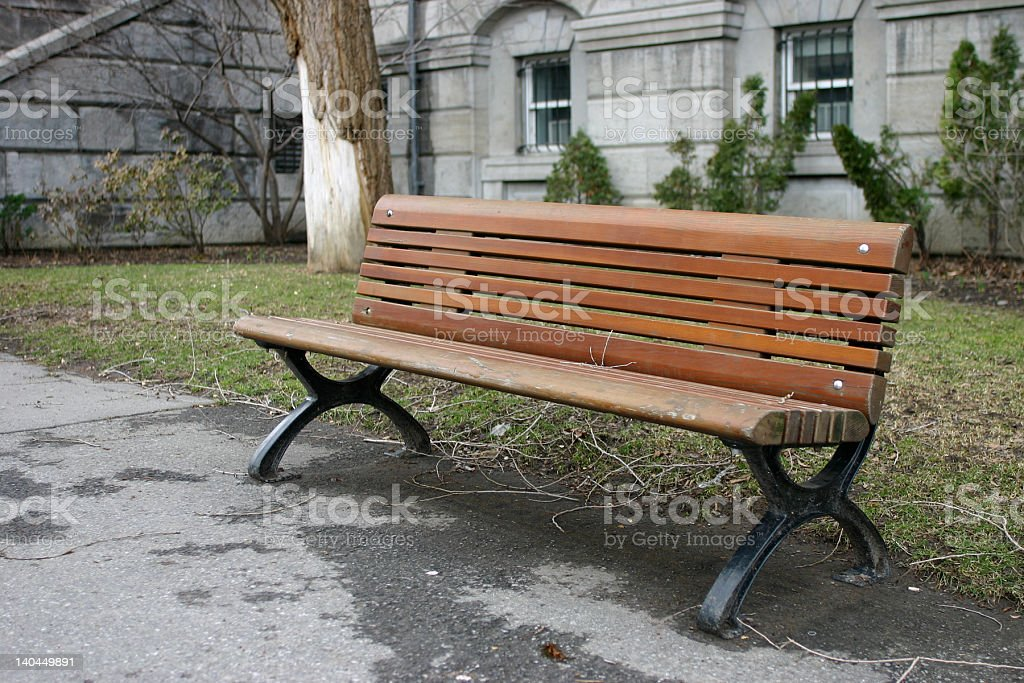 public bench royalty-free stock photo