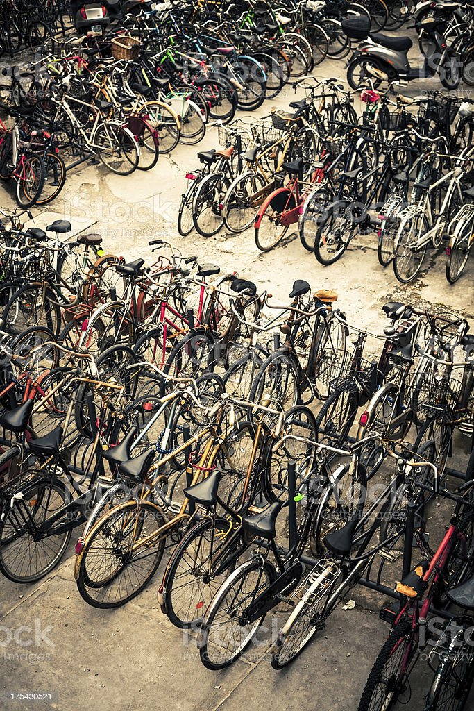 Public Bike Parking royalty-free stock photo