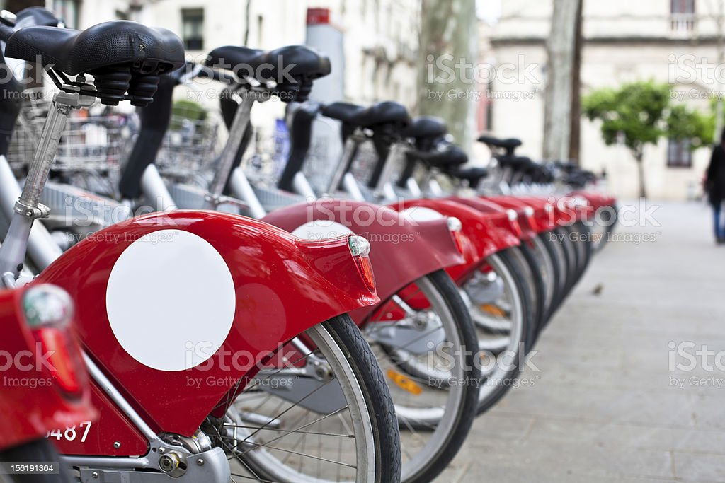 Public Bikes for Rent royalty-free stock photo