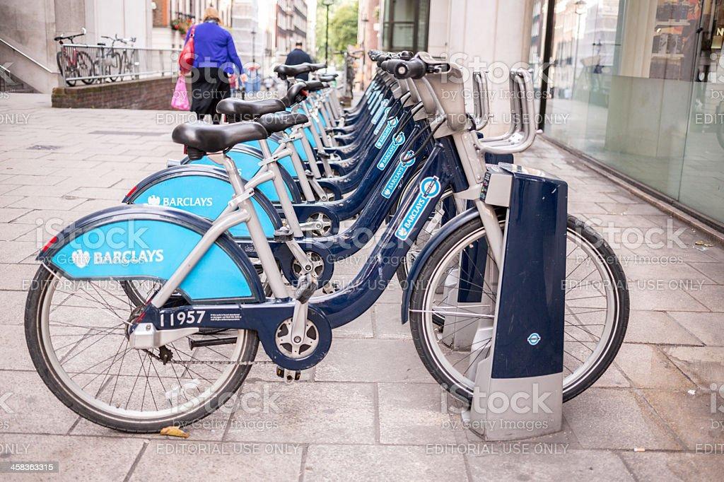 Public Bikes in London royalty-free stock photo
