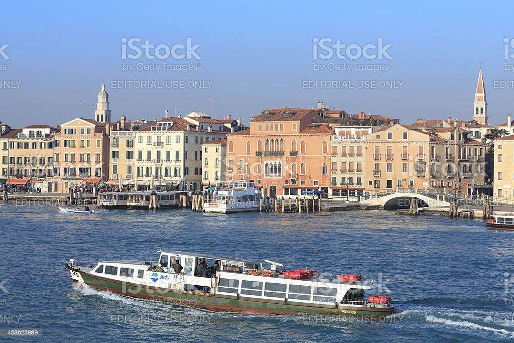 Public boat in Venice royalty-free stock photo