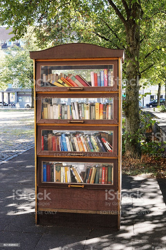 public bookcase in Germany stock photo