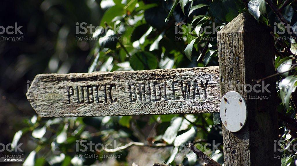 Public bridleway stock photo