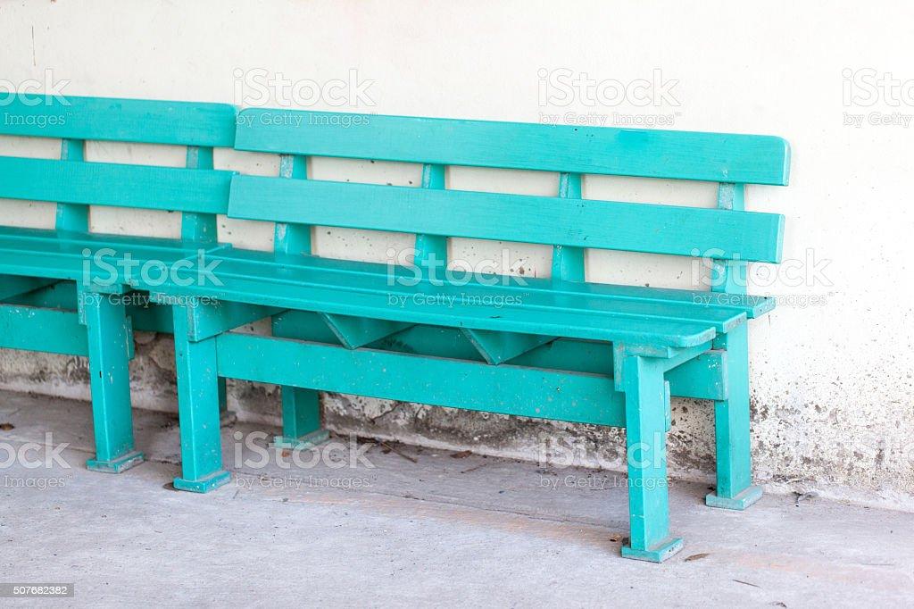 Public chair stock photo