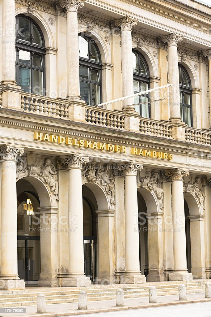 public chamber - Commerce in the Cityhall of Hamburg stock photo