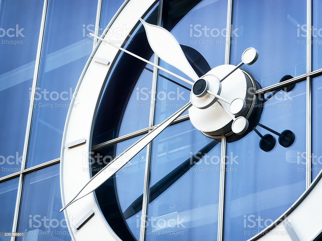 public clock stock photo