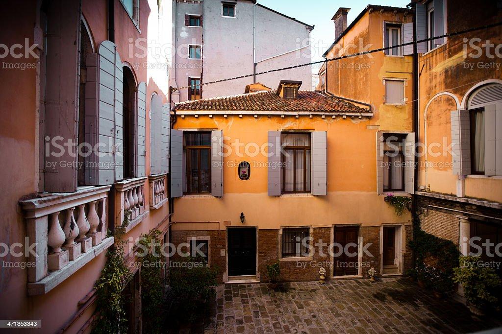 Public Courtyard in Venice, Italy royalty-free stock photo