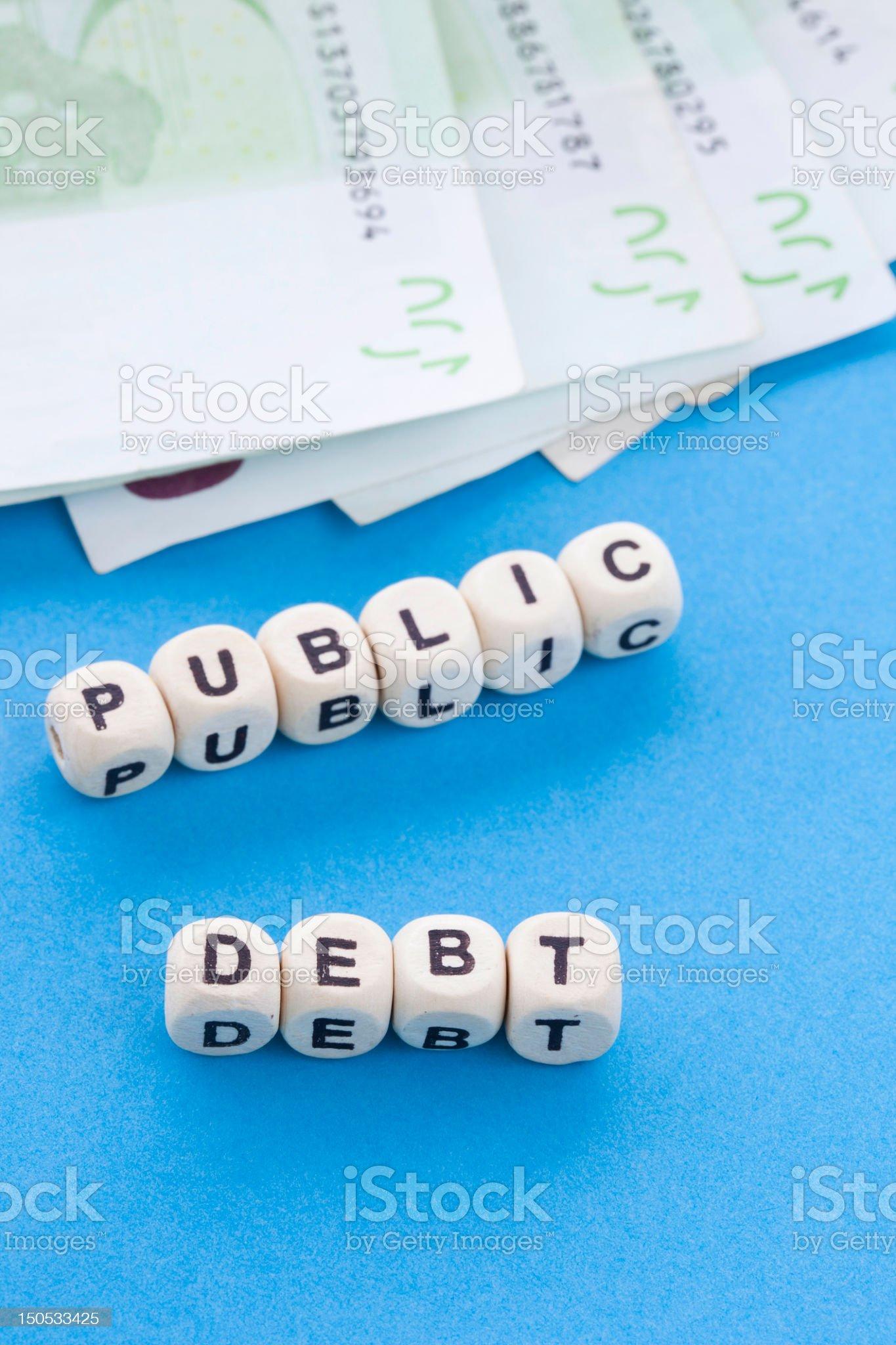 Public Debt - Crossword Puzzle royalty-free stock photo