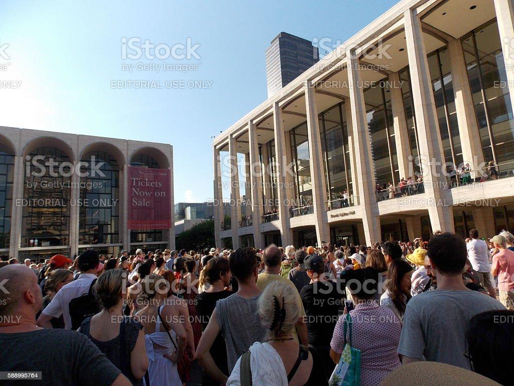 Public Domain Outdoor Concert at Lincoln Center stock photo